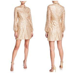 Aidan by Aidan Mattox long sleeve sequin dress